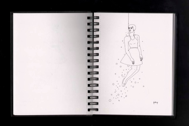 second spiral sketchbook fishing