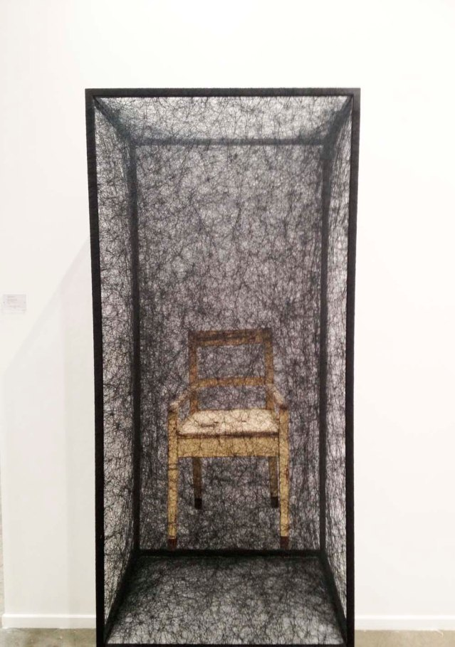 thank you, art dubai, for this. i've always loved chiharu shiota's haunting works. here a chair in charming decay