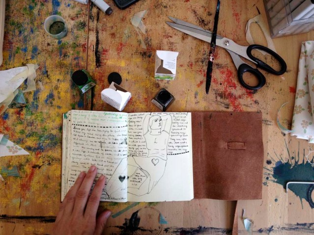 diary and desktop