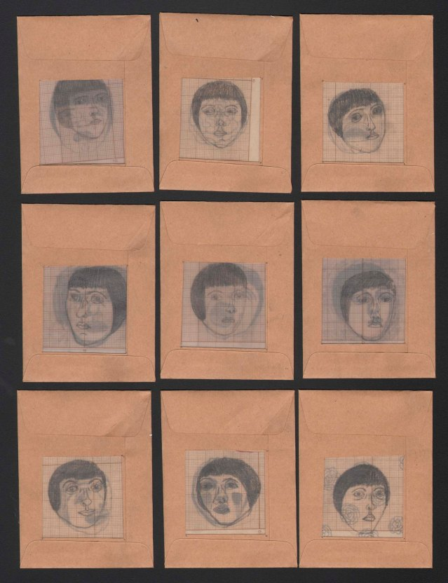 faces in envelopes