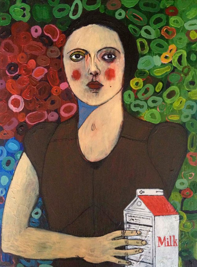 eve and her [lactose-rich] milk, acrylic on canvas, 40 x 50 cm