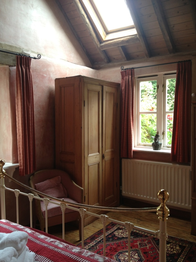 there are four windows in this room if you include the skylight and...