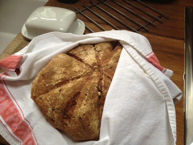 also in the basket was this huge loaf of granary bread. it has been sustaining me throughout my stay