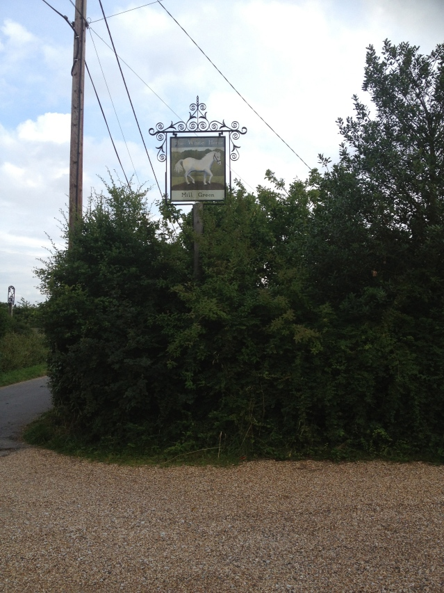 i ended up at the white horse inn, but i was too early for dinner so i left, intending to head back to the cottage