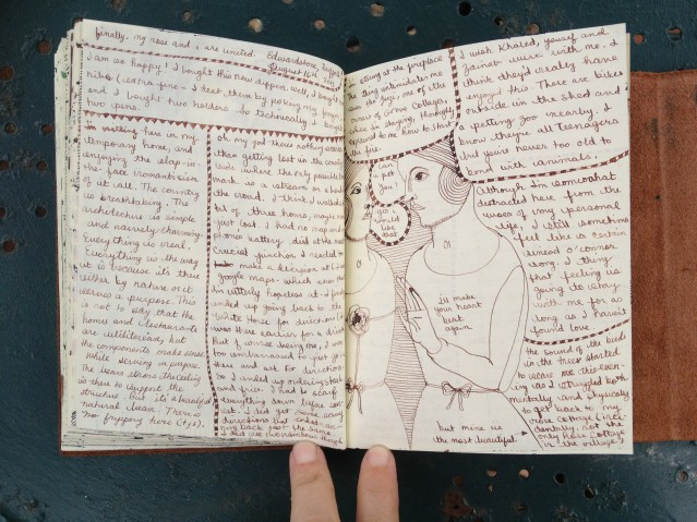 day one journal entry. i will scan these properly once i'm back home