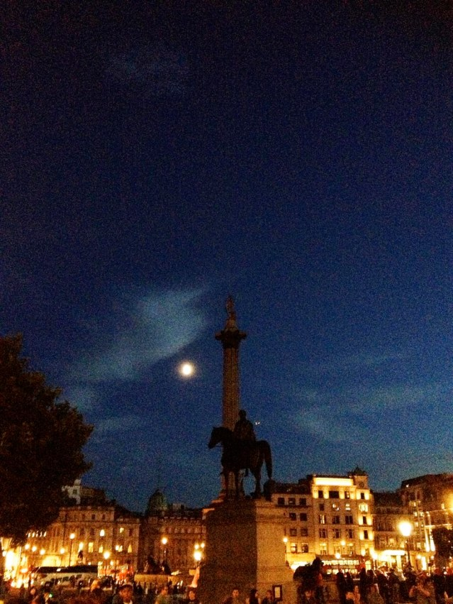 my photo of the moon (which was gorgeously gibbous in real life) was photo-bombed by King George IV and his horse