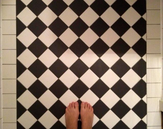i've always loved checkered tiles