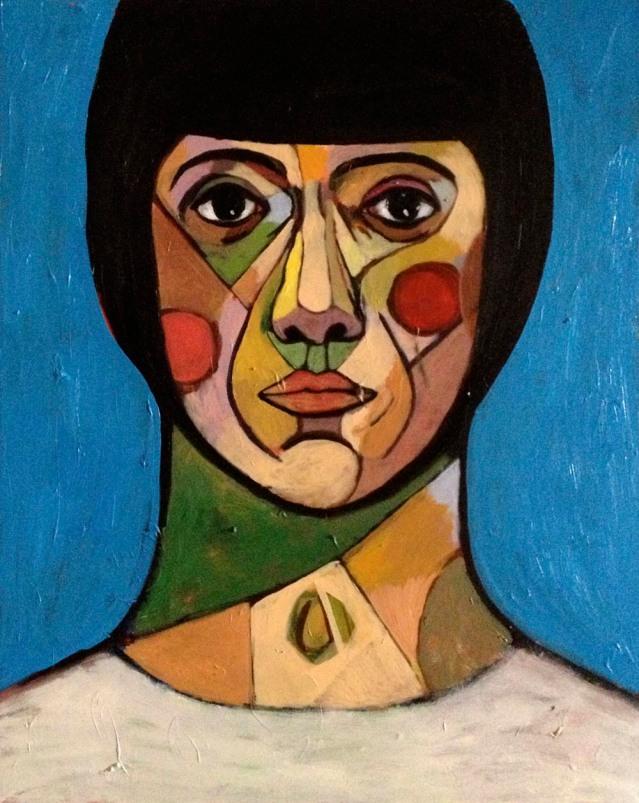 eve blue, 2013, acrylic on canvas, 60cm x 176cm