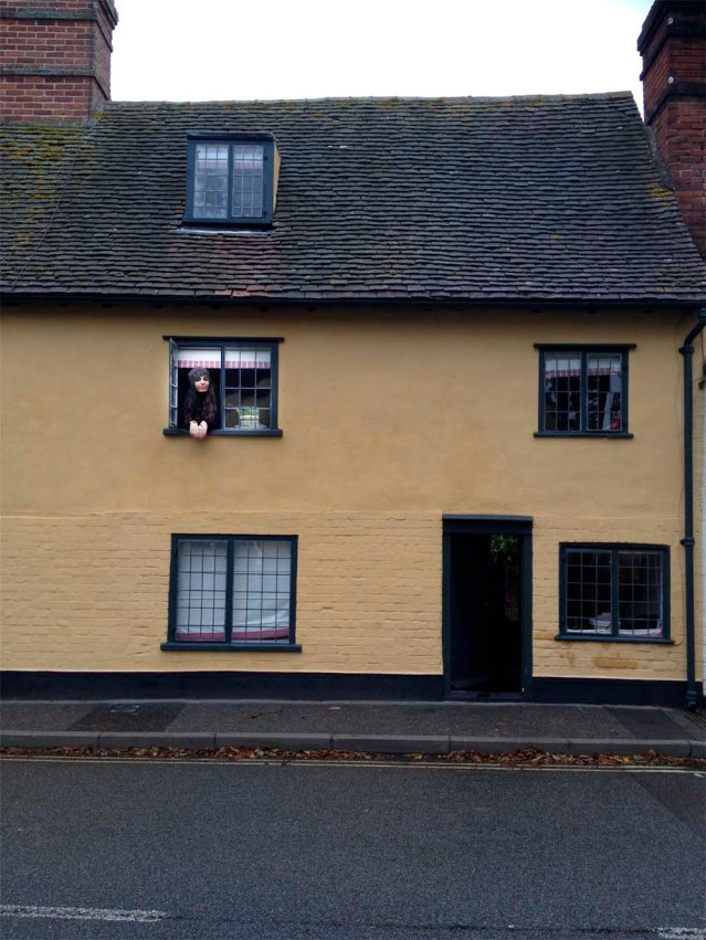 this is brook cottage. my sister, children and i stayed in this little home for two nights (my sister stayed for just one night, opting for a jay-zed concert in london instead). the facade of the cottage itself is quite unassuming. the back side however...