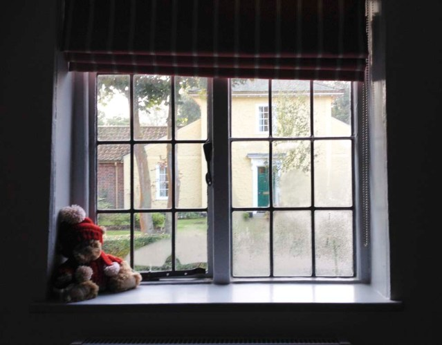 yousef's window and a teddy bear. this room was off the main bedroom which i just realized i forgot to take a photo of