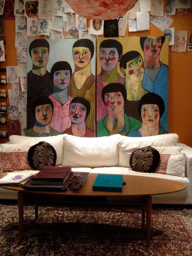 friday night the sister paintings met