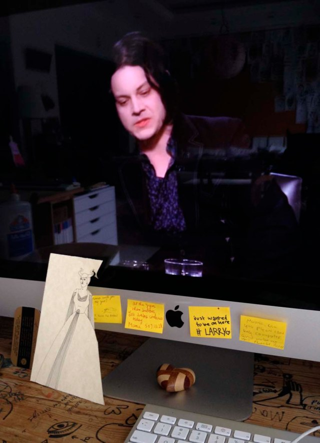 jack white this morning. i love this guy. he's intelligent, he makes complete sense and i love his work ethic. oh and i love his music and he's sexy and if i could i'd be his best friend