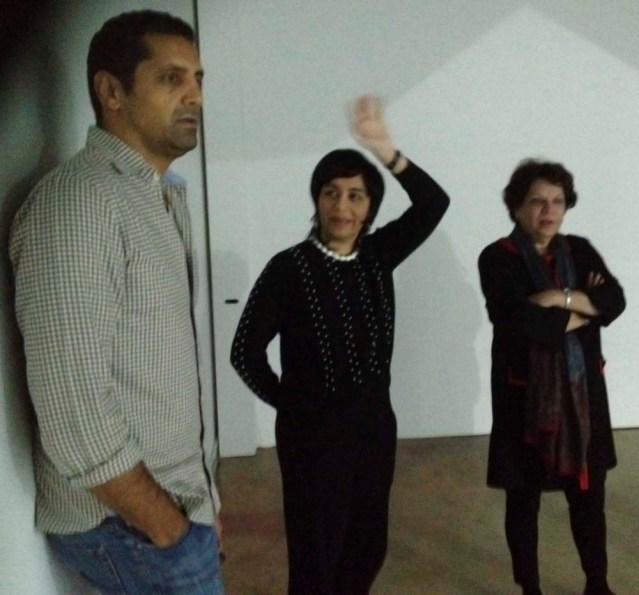 from left to right: my brother tareq, monira and her mother veteran kuwaiti artist thuraya al baqsami