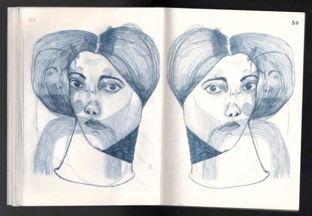 the hair } in triplicate