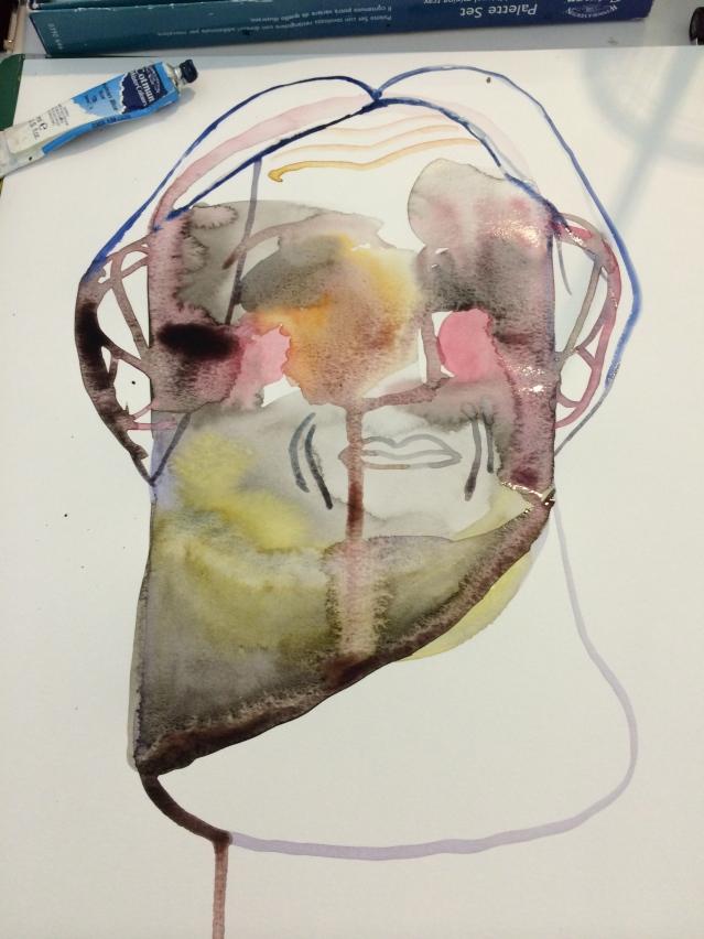 face in progress