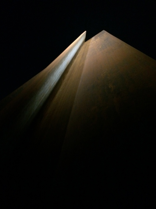 richard serra's '7' outside the museum of islamic art in doha