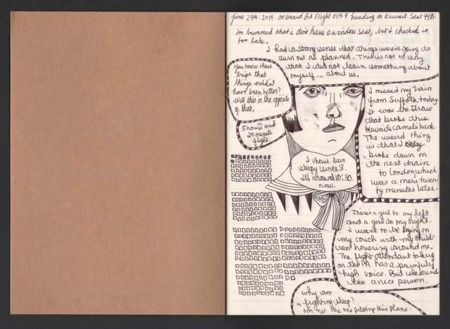 a return trip, a new notebook