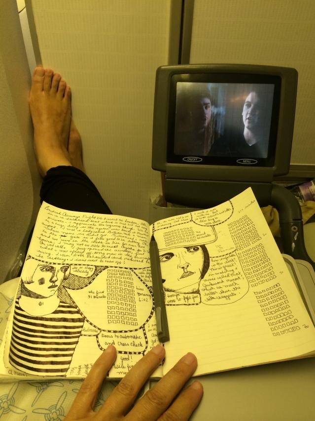 mangled airplane feet