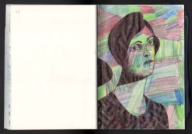 the window } the original in color pencil and ink