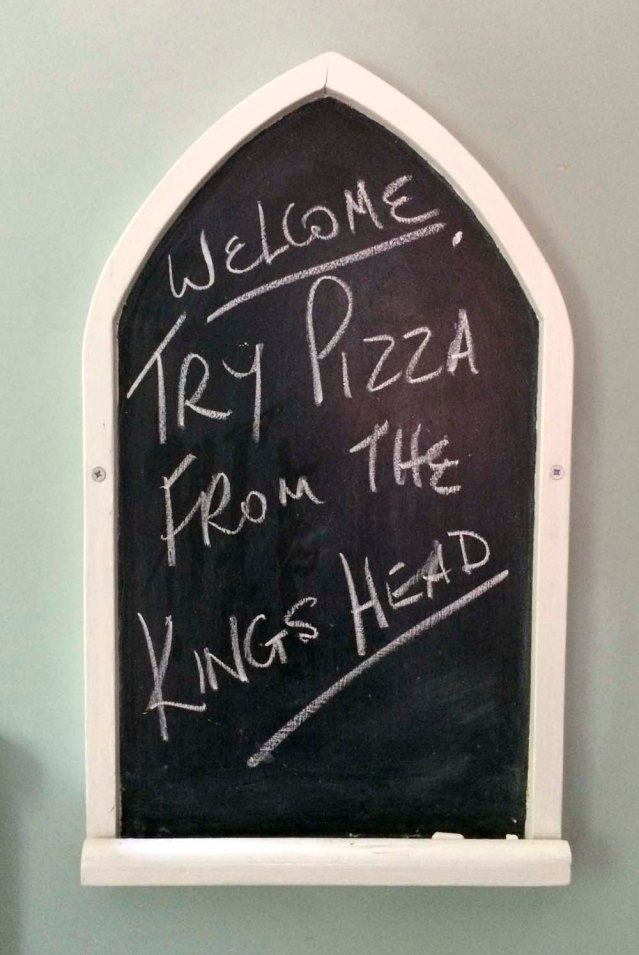 ok! i did go to the king's head but only discovered where  the pizza booth was the next day. i ended up dining at the george