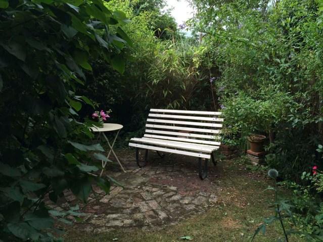 a hidden garden outside