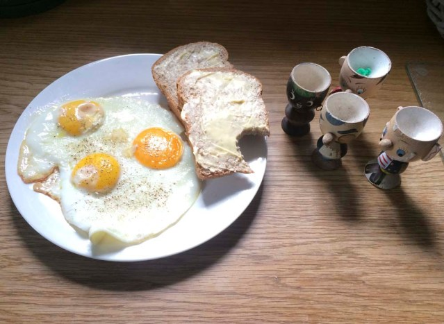 egg holders are eying my breakfast