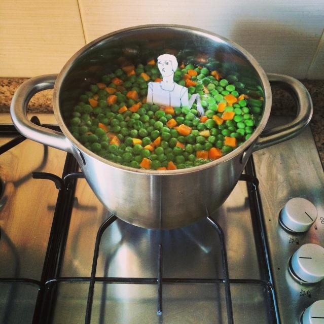 a pea and carrot bath