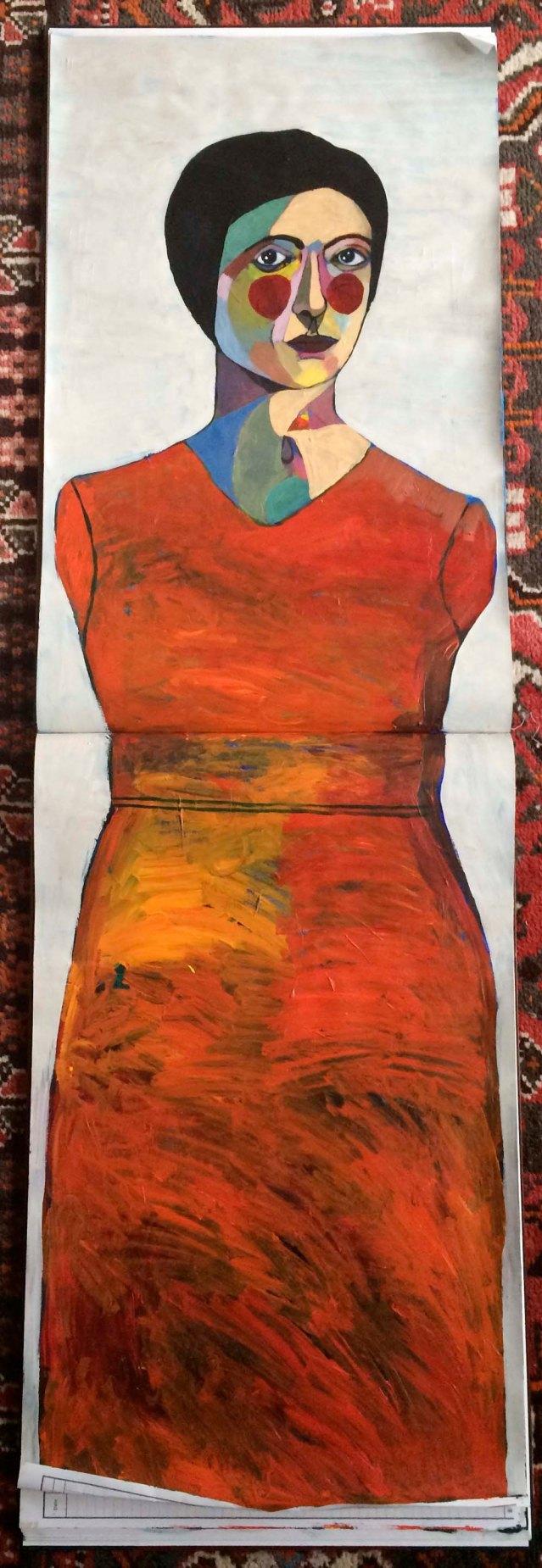 centerfold III } orange