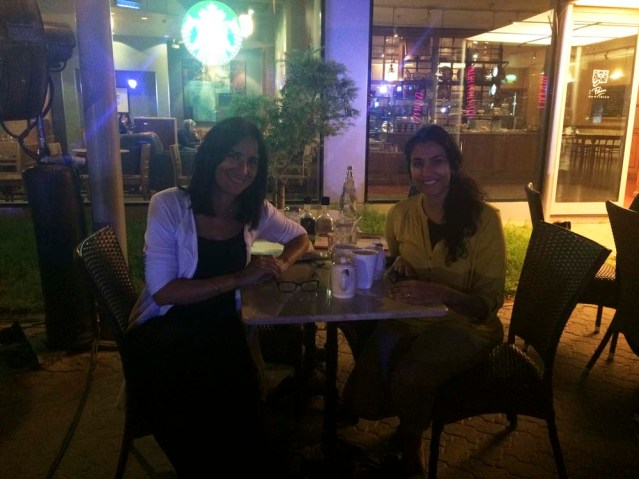 dinner with maysaa at PQ (NOT starbucks booo!)