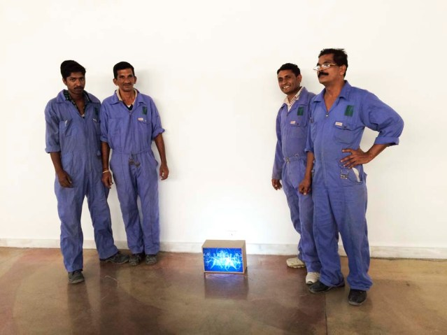 the four men who made my light boxes. thank you, fellas! these guys work really, really hard to realize the dream of one person. seems a little lop-sided in the grand scheme of things