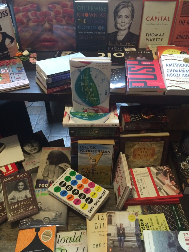 we visited the dar bookshop indoors and saw this: mai al-nakib's book 'the hidden light of objects'! a wonderful surprise