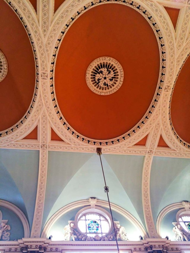 the colorful ceiling of the chelsea old town hall