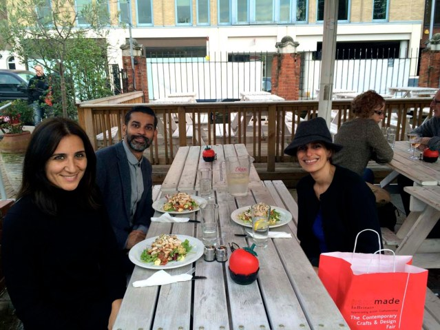 we stole piyush away for a delicious lunch. we all ordered the same chicken salad at the chelsea farmer's market cafe