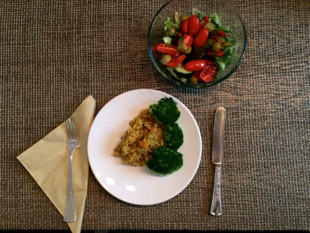 did i have lunch twice this day? seems so. ludmilla always cooks me wonderful meals. i felt so spoiled