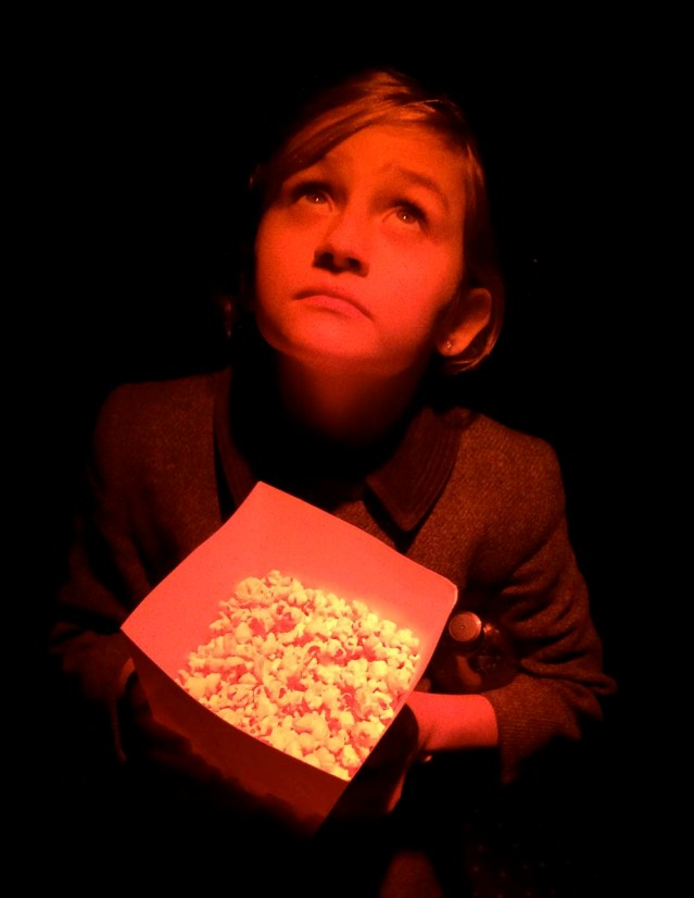 one last thing before i traveled: a trip to the cinema to watch 'the book of life' with tareq, nelli and the girls. here, michelle and a 'small' box of pop corn