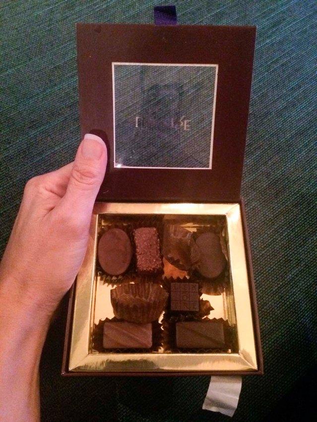 chocolate time. jana had one and a half. i had a half and five