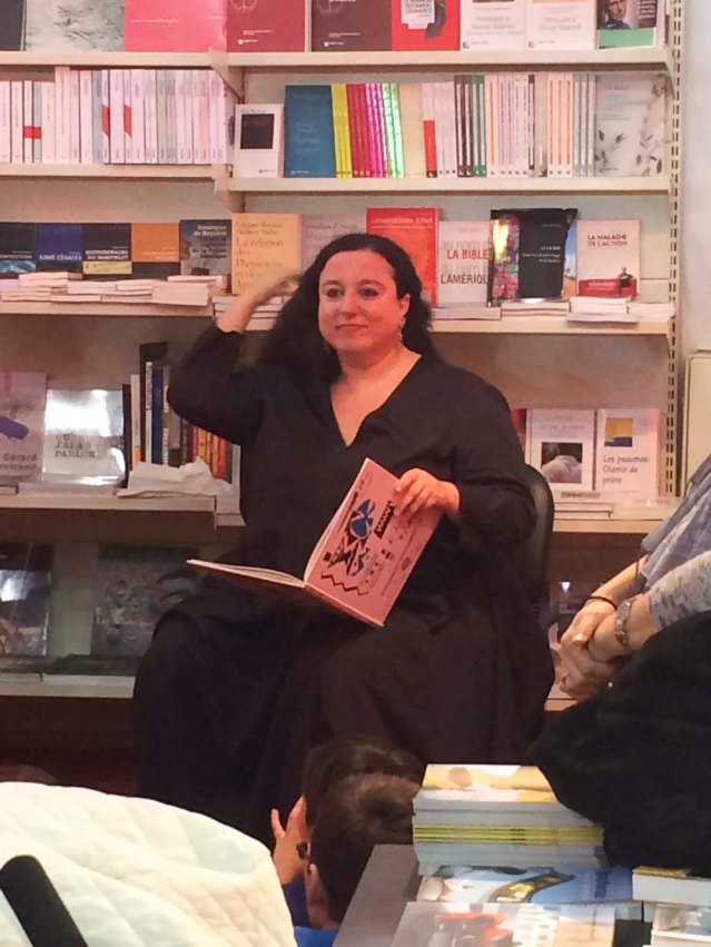 later on at biel, nadine touma reads from dar omboz's newly published book 'la souris', or 'the mouse'. the book is a fable in french and arabic by the late chafik abboud