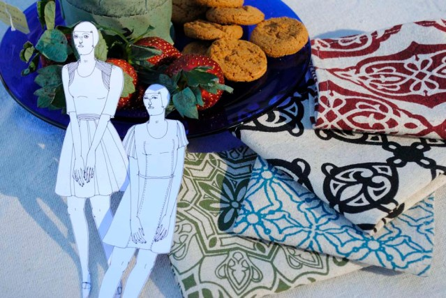 their favorite: in the garden with gingersnaps and mashrabiya-inspired tea napkins
