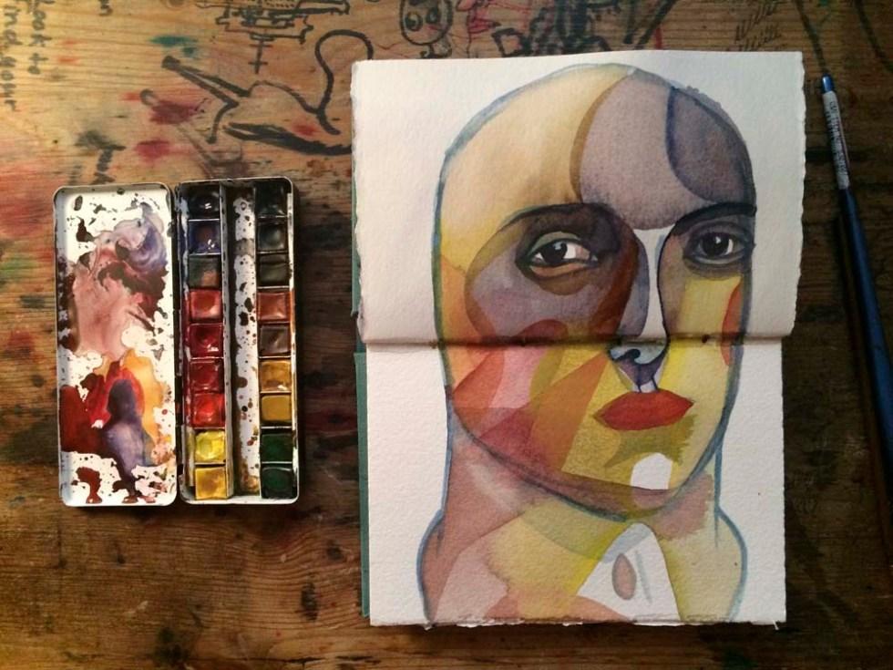 watercolor sketchbook