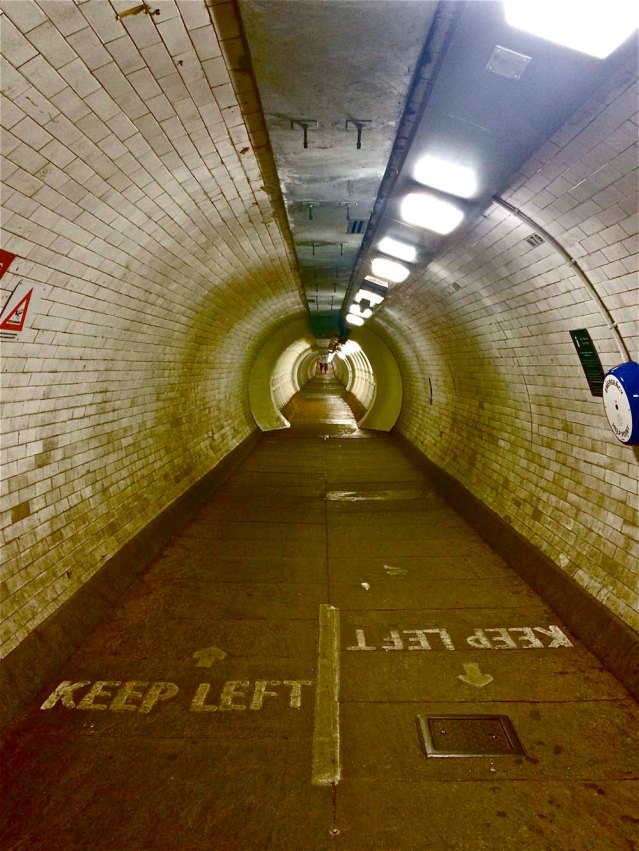 in the tunnel we must keep left, no matter what