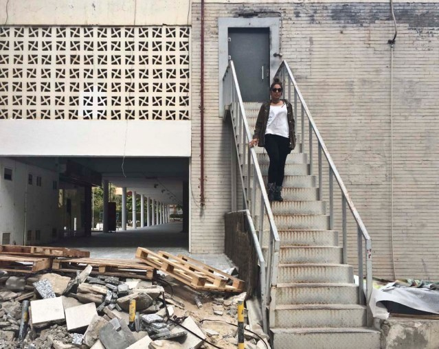yasmine, a staircase and more urban junk