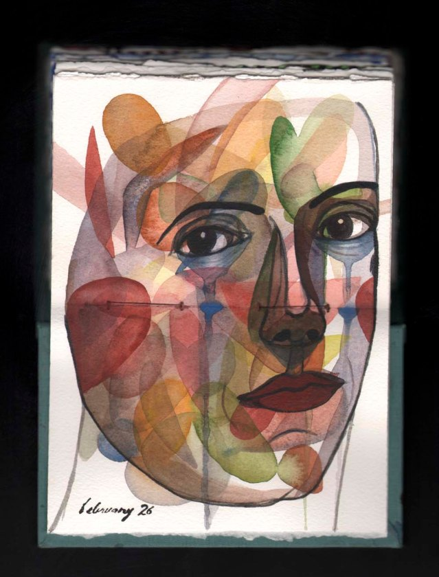 watercolor sketchbook } w.i.p.