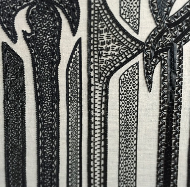 teasing you with a detail from one of farah's larger works. this piece is a beauty. photo by farah behbehani