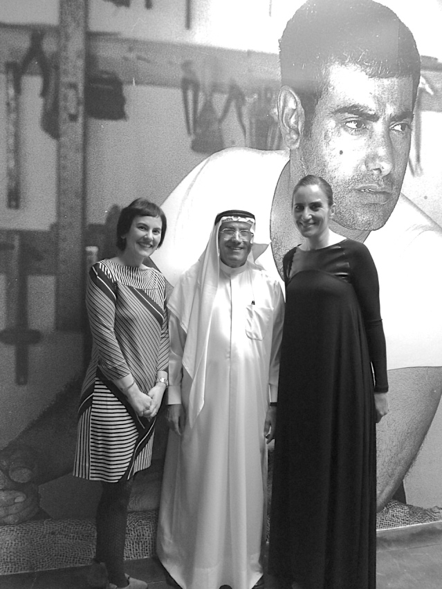 later that night, as exhausted as we all were, it was onto CAP for kuwaiti artist (and a personal inspiration) sami mohammed's retrospective exhibition. what a lovely, lovely man