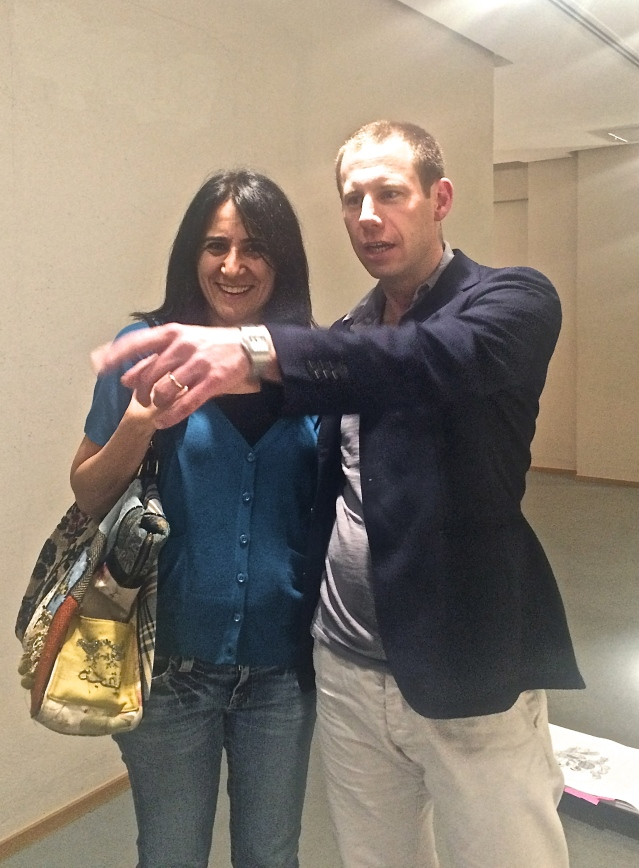 sunday 15 } i met GAF co-director turi munthe and dragged him outside to our exhibition (hey, someone had to do it)