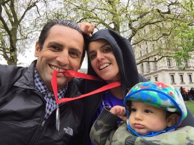 i'm so proud of my sister-in-law jana for running the london marathon this year! i would've seriously considered going if it weren't for the palestinian exhibition. i love this little family
