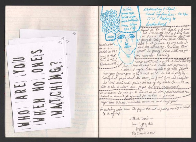 My notebook and stamped postcards by Linda Fennigbauer, gifted to me by my partner in laughter anna dora