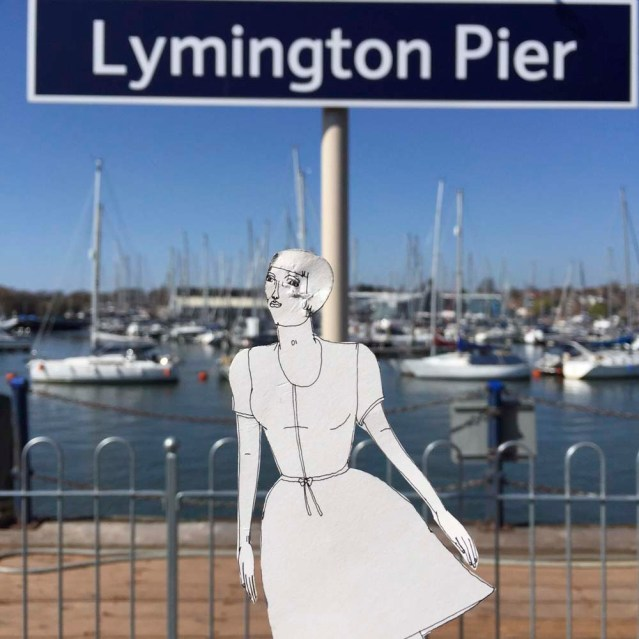 eve finally catches the train and makes it to lymington pier for the ferry