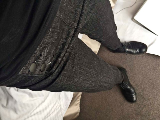 'wake up in the morning feeling like p-diddy'. my new trousers go so well with my very old shoes