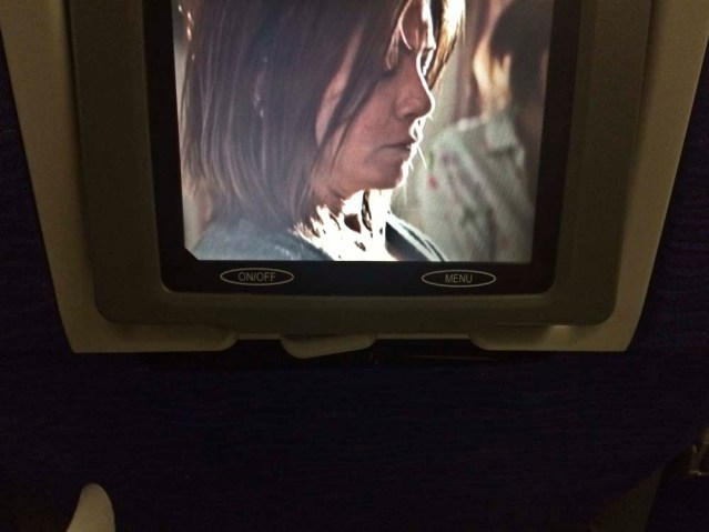this is how close jennifer aniston was to my face on the flight